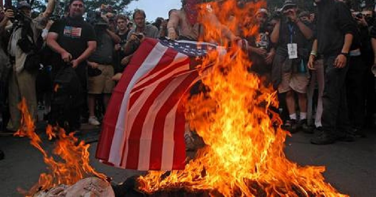 burning the american flag essay Should flag-burning be illegal articles, and essays the same argument can be made for burning the american flag.