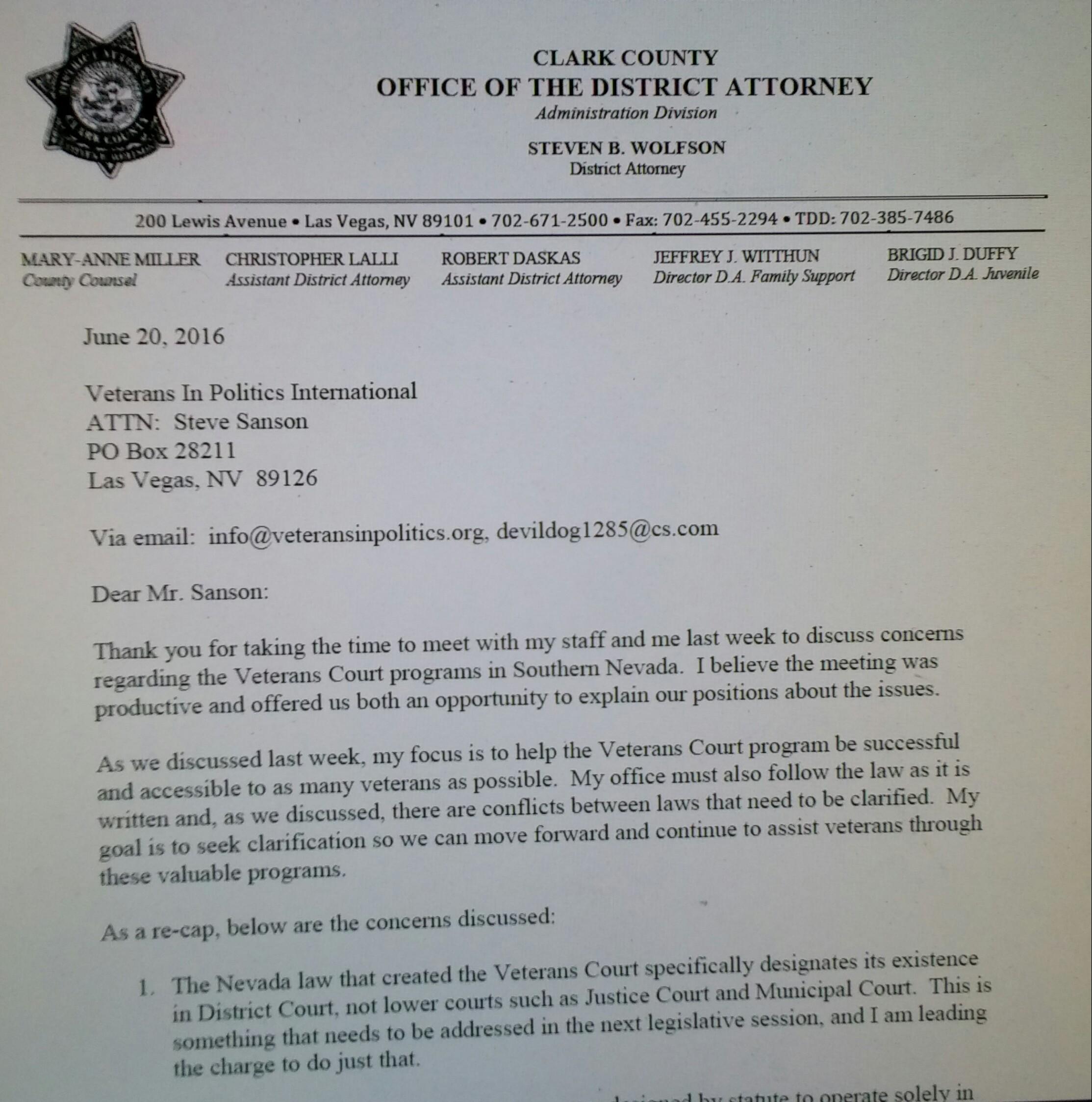 Clark county district attorneys response to veterans in politics 0621162217 1 falaconquin