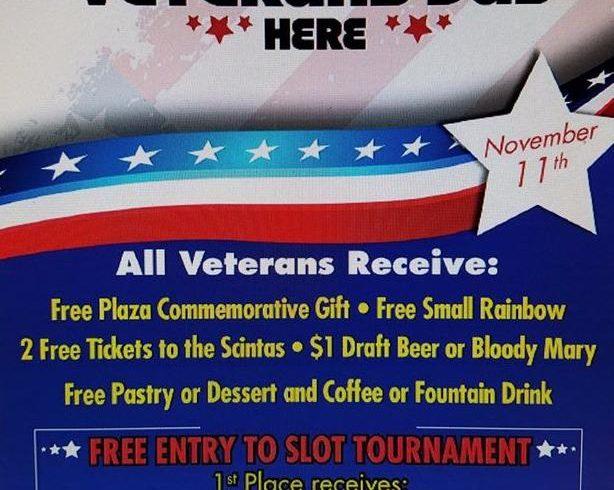 Plaza Hotel & Casino holding special veterans awards ceremony on Veterans Day