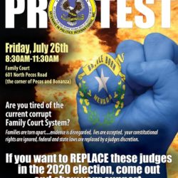 Clark County Family Court Protest hosted by Veterans In Politics