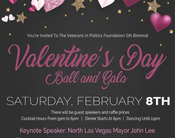 """Free Tickets will be given away to our local Veterans for the Valentine's Day Ball"""