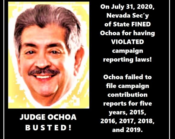 Nevada Secretary of State Fines Eighth Judicial District Court Judge!