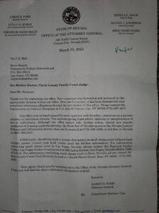 AG bullshit letter on Harter