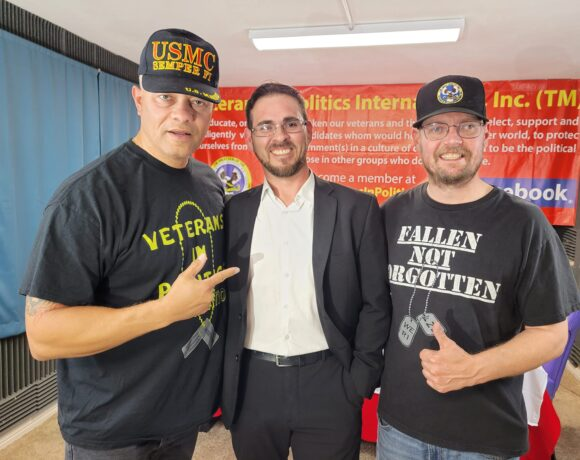 One Marine to the other Burton Lafleur discussed veteran's suicide prevention